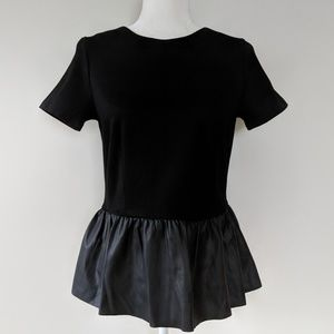 French Connection Fast Jacinda Jersey Peplum Top